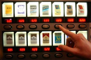 Cigaretovy automat tlacitka detail